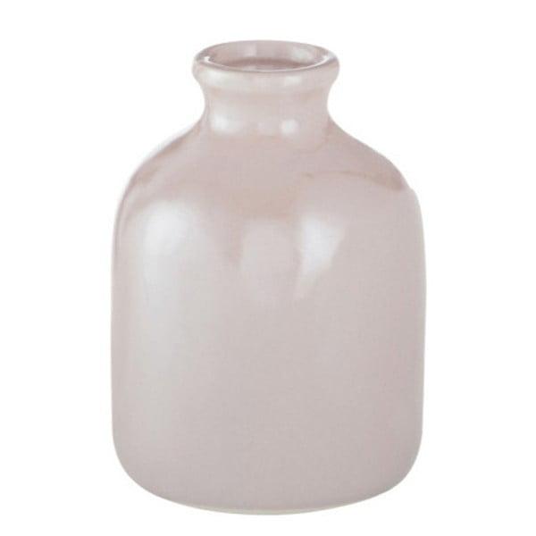 Różowy kamionkowy wazon J-Line, 10x10x13 cm