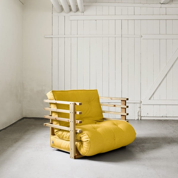 Fotel rozkładany Karup Funk Natural/Amarillo