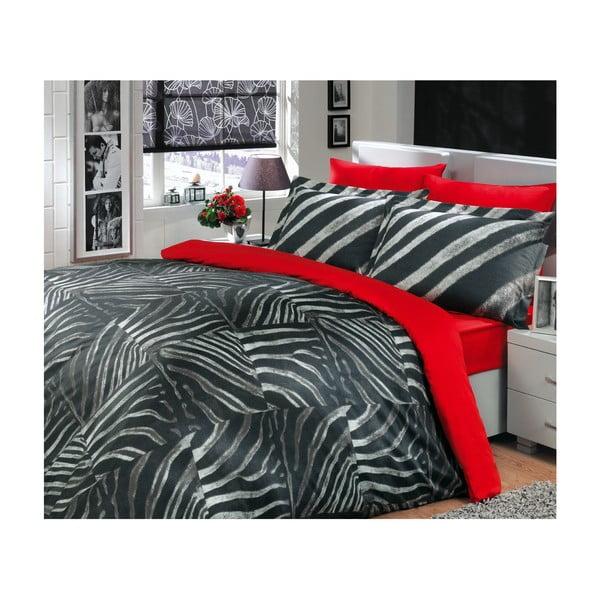 Komplet pościeli na łóżko podwójne Retro Black, 200x220 cm