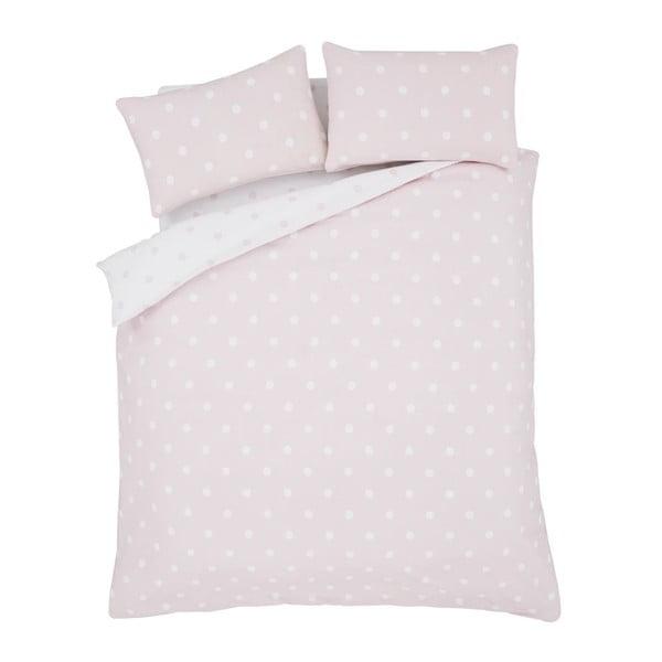 Pościel Brushed Polka Pink, 230x220 cm