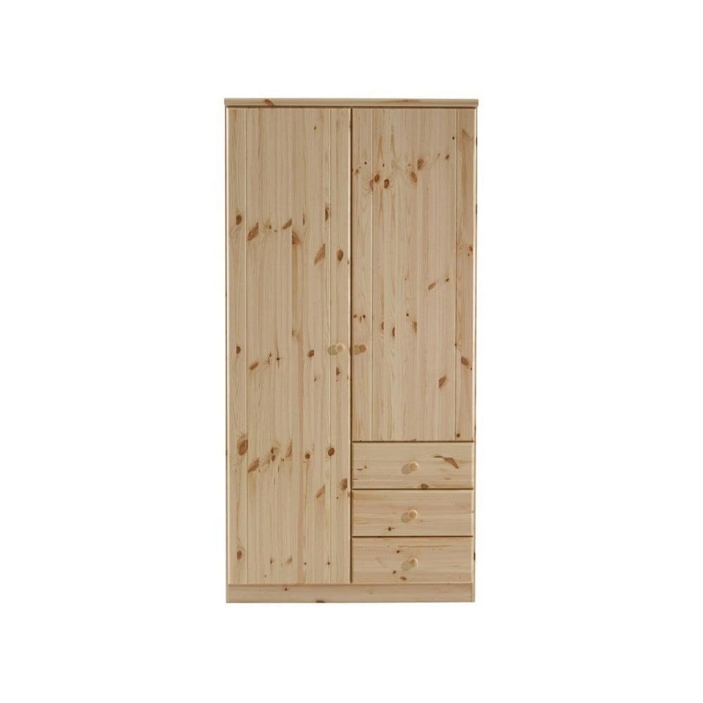 Brązowa szafa z drewna sosnowego Steens Ribe, 202x100,8 cm