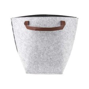 Szary koszyk z uszami PT LIVING Storage, wys. 42 cm