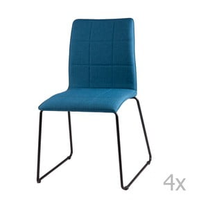 Zestaw 4 niebieskich krzeseł sømcasa Malina