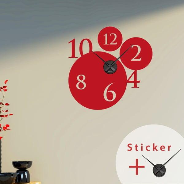 Samoprzylepny zegar Bubbles and Numbers, 55 cm