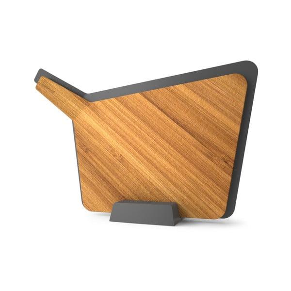 Komplet 2 desek do krojenia ze stojakiem Chopping Board Set, szary
