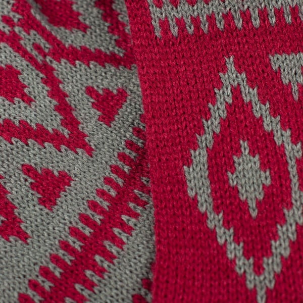 Szalik komin Indian Red