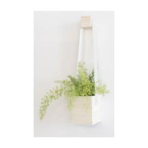 Biała doniczka wisząca Really Nice Things Colgante,17x62 cm