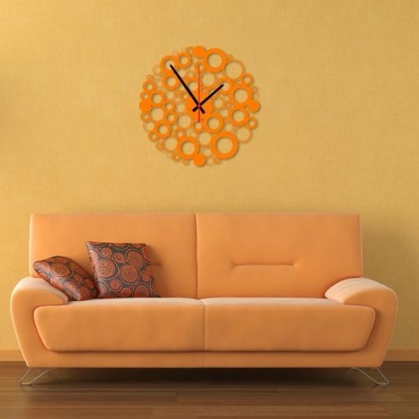 Zegar ścienny Orange Bubble