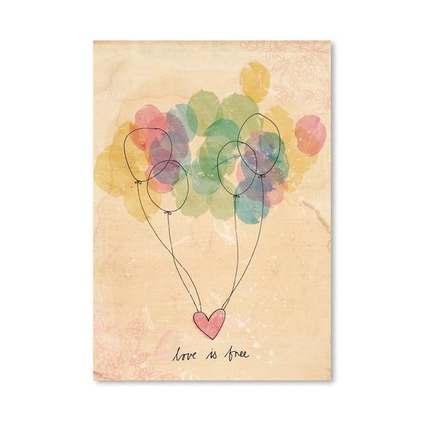 Plakat Free Love, 30x42 cm