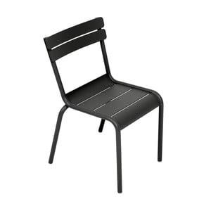 Czarne krzesło dziecięce Fermob Luxembourg