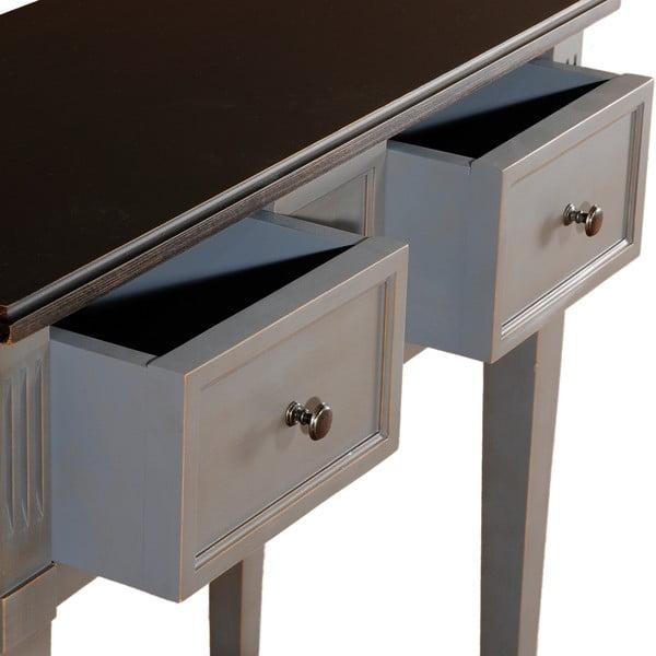 Stolik z 2 szufladami Belgique Grey