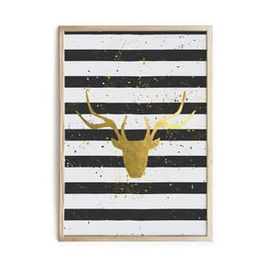 Obraz Really Nice Things Deer Stripes, 40x60 cm