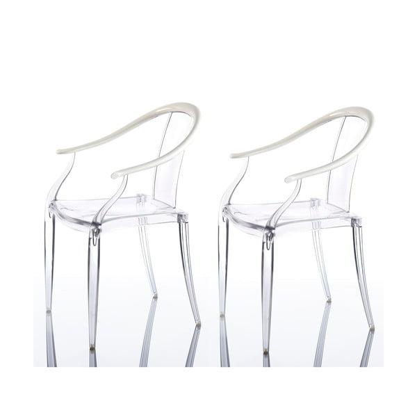 Komplet 2 krzeseł Mi Ming, białe