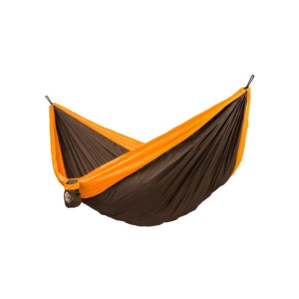 Podróżny hamak dwuosobowy Colibri, czarny/pomarańczowy
