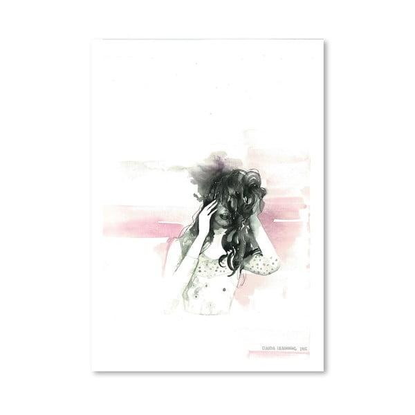 Plakat Pink Face, 30x42 cm