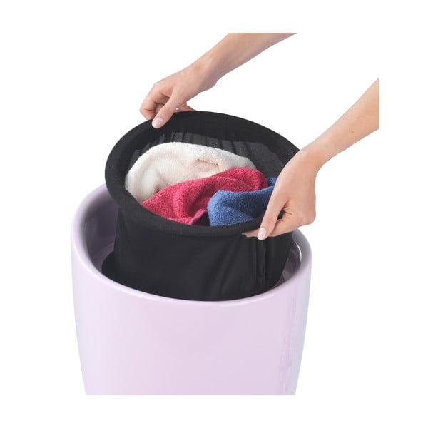 Różowy kosz na pranie itaboret wjednym Wenko Candy