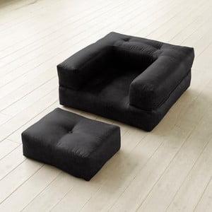 Fotel rozkładany Karup Cube Poly Black