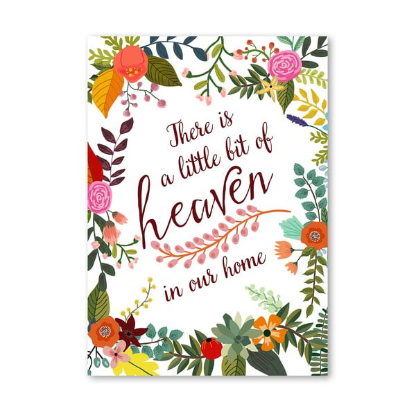 Plakat (projekt: Mia Charro) - There Is A Little Bit Of Heaven