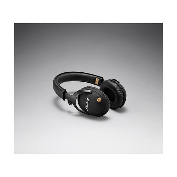 Czarne słuchawki bezprzewodowe Marshall Monitor