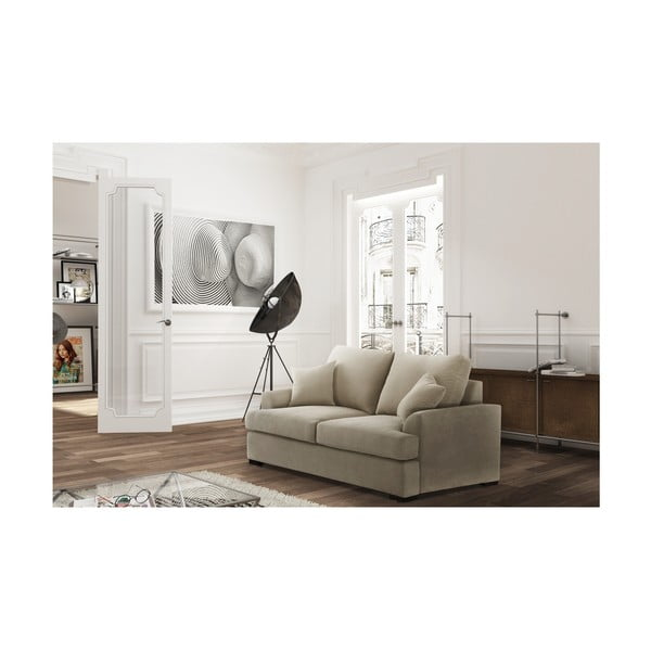 Kremowobiała sofa rozkładana Jalouse Maison Irina