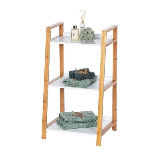 Bambusowy regał łazienkowy z 3 półkami Wenko Finja
