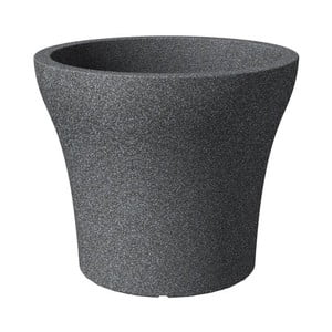 Donica ogrodowa Stone Granit 30 cm, czarna