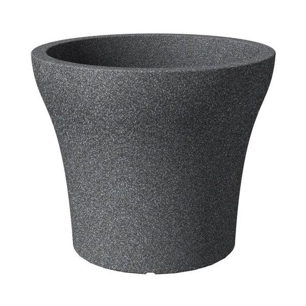Donica ogrodowa Stone Granit 48 cm, czarna