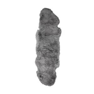 Szary dywan futrzany z krótkim włosiem Dara, 165x55cm