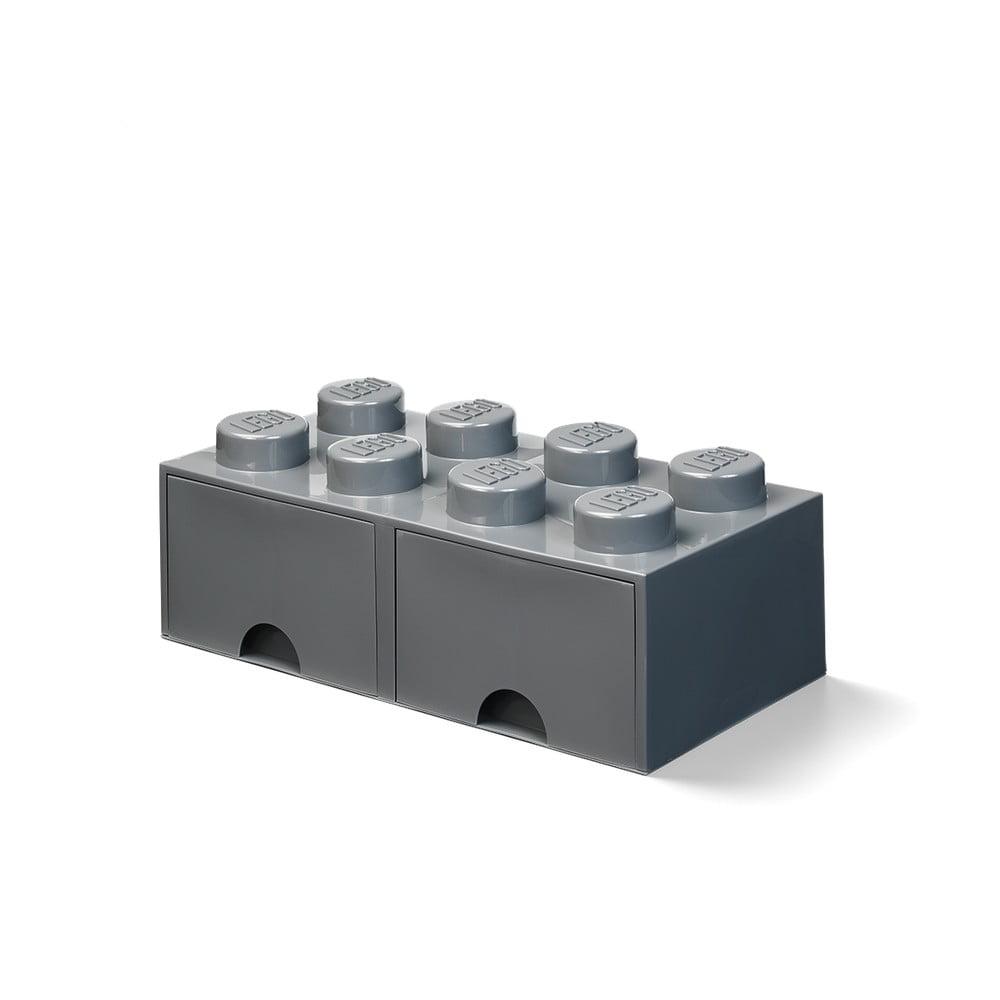 Ciemnoszary dziecięcy pojemnik z 2 szufladami LEGO®