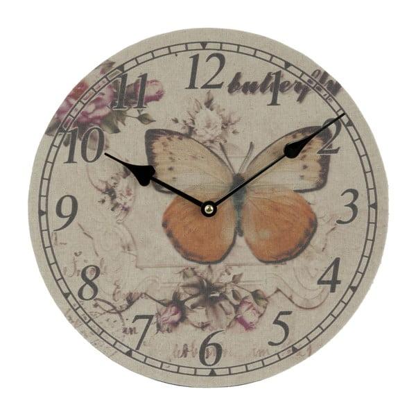 Zegar naścienny Butterfly, 29 cm