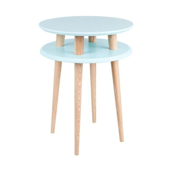Jasnoniebieski stolik Ragaba UFO, Ø 45 cm