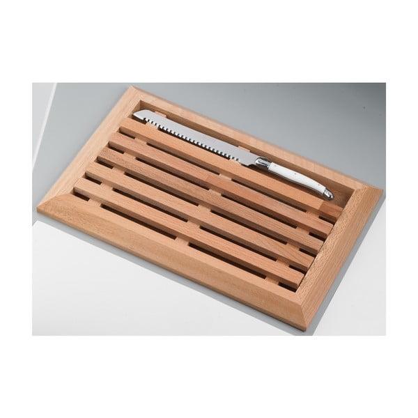 Drewniana deska z nożem do pieczywa Jean Dubost Natural