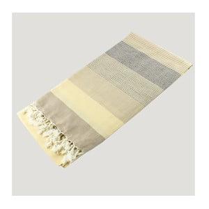Ręcznik hammam Strip Style Beige, 90x180 cm
