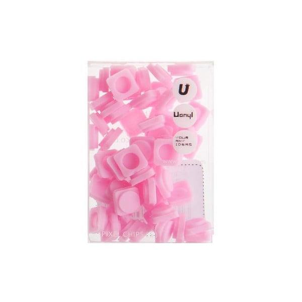 Zestaw 60 małych pikseli, różowy