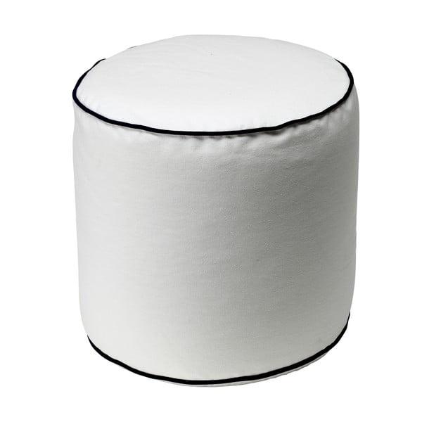 Biały puf 13Casa Bicolor Cylindre