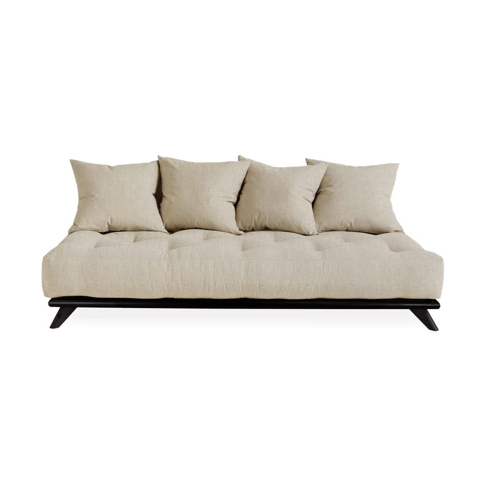 Sofa z lnianym obiciem Karup Design Senza Black/Linen