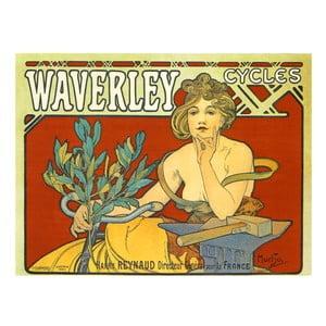 """Obraz """"Waverley Cycles"""" (Alfons Mucha), 90x120 cm"""