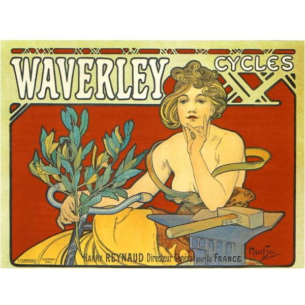 """Obraz """"Waverley Cycles"""" (Alfons Mucha), 30x40 cm"""