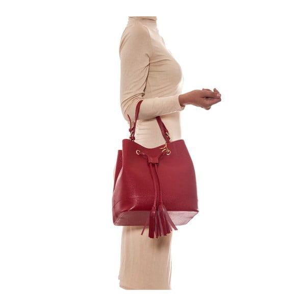 Skórzana torebka Renata Corsi 430 Rosso