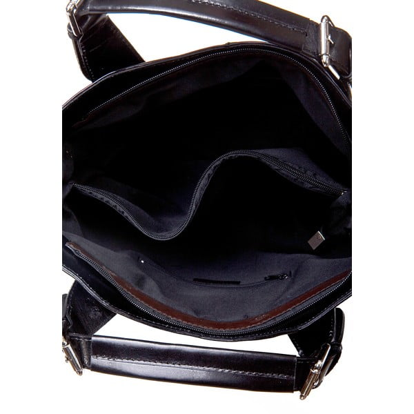 Czarna torebka skórzana Massimo Castelli Valeria