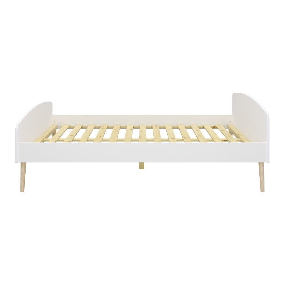 Białe łóżko Steens Soft Line, 140x200 cm
