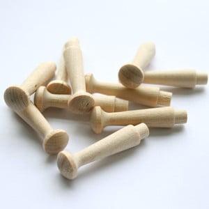 Zestaw 10 drewnianych kołeczków
