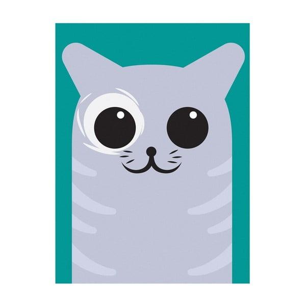 Plakat Kotek, A4, szary