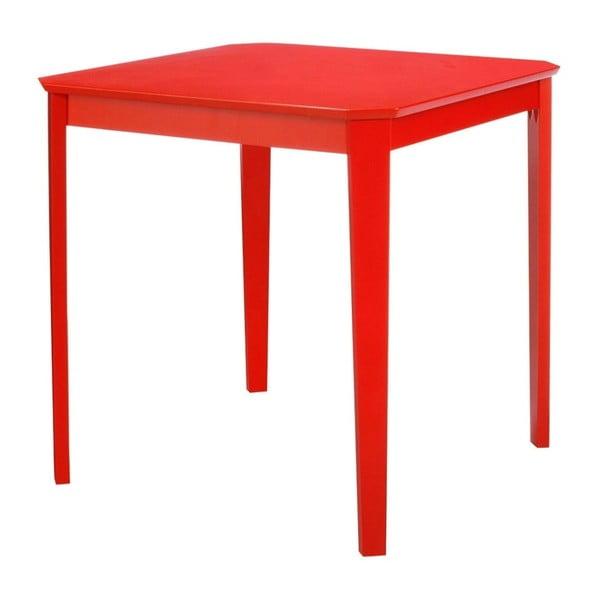 Czerwony stół 13Casa Kaos, 75x75cm