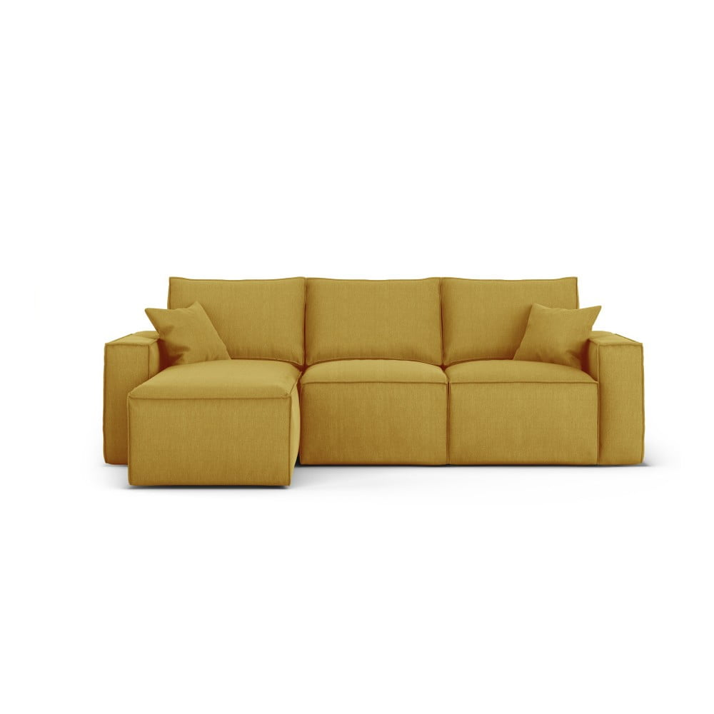 Żółta narożna sofa lewostronna Cosmopolitan Design Miami