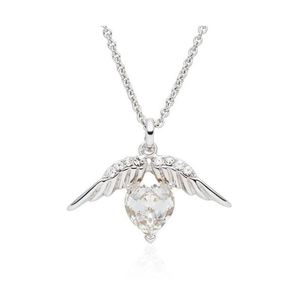 Naszyjnik ze Swarovski Elements Heart Prong Crystal