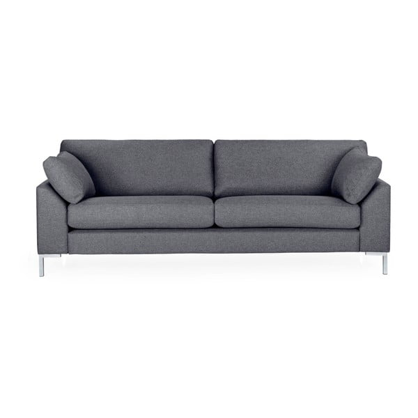 Ciemnoszara sofa 3-osobowa Softnord Garda