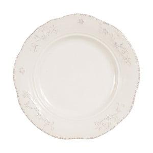 Biały talerz deserowy Comptoir de Famille Lise, 19,5 cm