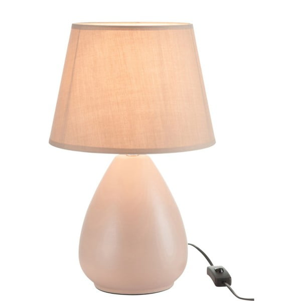 Kremowa lampa stołowa z kloszem J-Line
