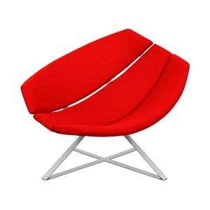 Czerwony fotel relaszt.acyjny Softline Radar